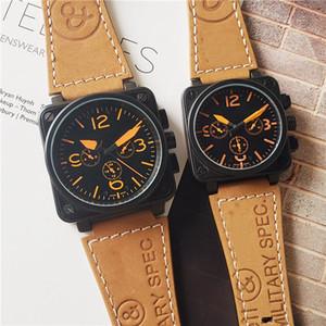 Wholesale hommes femmes de luxe montre carré designeur mouvement automatique montres mechniques bracelet cuir tout cadran travail couple couple horloge sportive