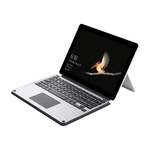 Ultra thin leather cover aluminum abs wireless bluetooth keyboard case for Microsoft Surface go USB charging