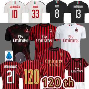 Zlatan Ibrahimo Tailandia AC Milan de fútbol jerseys piątek SUSO ROMAGNOLI Calhanoglu Paquetá CUTRONE KESSIE Milan camiseta de futebol Hombres Niños