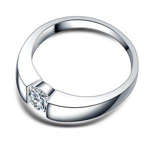 Top-Qualität Fashion Style Verlobungsringe für Frauen silberne Farbe White Crystal Zirkonia CZ Stein ewige Trauringe