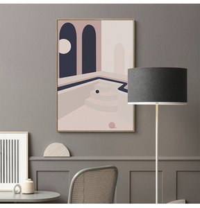 Abstract Picture Morandi Color Art Paintings Wall Art Decorative Picture Decorated for Sofa Wall Modern Home Living Hotel Cafe Wall Decor