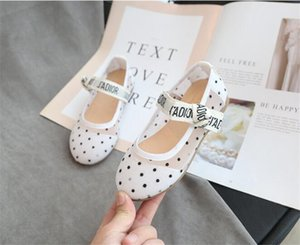 Primavera 2020 novos meninas sapatos princesa respirável malha ocasional splicing pequenos sapatos baixos menina negra sapatos de bebê brancas macias fundo confortáveis