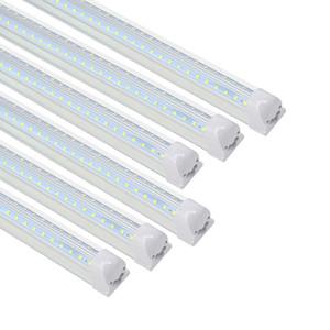 أدى LED T8 المتكاملة واحدة تركيبات 4FT 28W 2800lm 5000K ضوء النهار الأبيض المساعدة متجر ضوء LED ضوء السقف وتحت ضوء مجلس الوزراء