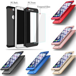 360 Degree Full Front Back Full Body Protective Case with Glass Protector for iphone 6 6s Plus 7 8plus x XsMax Samsung S8 Note8 S9 S9 plus