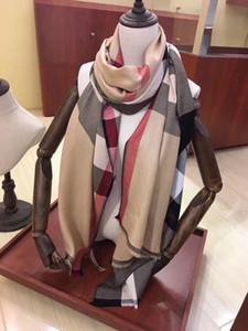 Luxus-Winter-Kaschmir-Schal für Frauen und Männer Marken-Entwerfer-Männer wärmen karierte Schal Mode Frauen Kaschmir-Wolle Schal imitieren 180x70cm