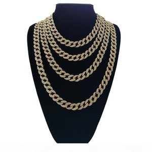 18inch 20inch 24inch 30 inch Hip Hop Iced out Cuban Chain Cuban Link Chain Necklace Bling bling Jewelry N409 Y1891709