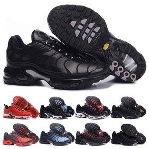 nike air max TN Лучшие качества TN кроссовки мужчины тройной черный красный оранжевый серебристый все красный TN открытый кроссовки Shose мужские спортивные спортивные кроссовки
