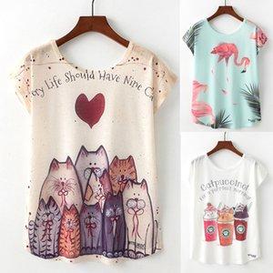 24 Color Artguy Summer New Women T Shirt Girls Lovely Cute Animal Nice Cat Unicorn Print T-shirt Causal O-Neck Short Sleeve Loose Tops