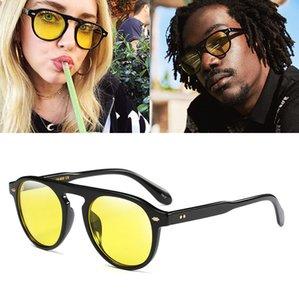 New Arrival Round Sunglasses Men coating Retro Women Designer Sun glasses Vintage Retro mirrored glasses UV400 92106