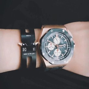 ALYX pulsera de metal mecánica pulseras de manillas las letras del estilo Hombres Mujeres Accesorios de Moda Pareja Esposas ocasional de la calle HFHLSH001
