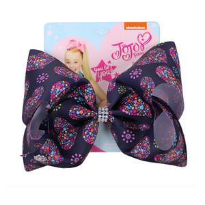 Kız bebekler Baskı Kalp ilmek Saç Firkete Çocuklar renkli Bow-kravat Firkete Çocuklar Bahar Şapkalar 19 Renk ilmek Saç Klipler DH1085 T03