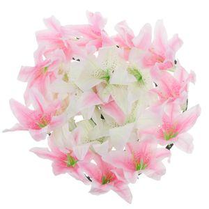 Lily flor de seda artificial Funeral Memorial grinalda da flor Tombstone Sepultura Flor Pet Shop Início Jardim