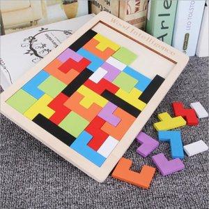 أطفال ألعاب خشبية تنغرم المخ دعابة لغز لعبة تتريس preschool magination الفكرية تربية الطفل لعبة هدية حزب الإحسان YSY174