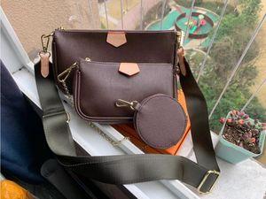 3-teiliges Set heiße Verkaufshandtasche hohe Qualität Schulterbeutel Art und Weisebeutel Handtasche klassischer Brief Brieftasche Handytasche