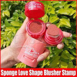 Xixi Rosto Maquiagem Profissional Blush Sponge forma do amor Concealing Shading doce Blush Blush Selo de 3 cores
