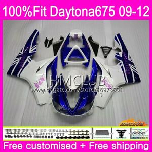 Injection For Triumph Daytona 675 09 10 11 12 Кузов 44HM.2 Daytona-675 Daytona675 Daytona 675 2009 2010 2011 2012 синий белый обтекатель