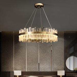 K9 Crystal Chandeliers Gold Chandelier Lighting Hang Lamp Cristal Luster Kitchen Island Led lights Indoor Light Fixtures