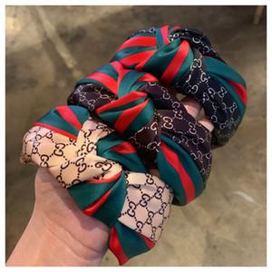 2020 Nova Mulheres bowknot Largo Hairband Cruz atados Cabeça das meninas da faixa Moda Tecido Headband Sólidos Chefe Hoop Lady Acessórios de cabelo
