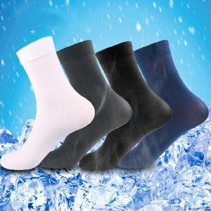 Erkek Toptan Katı Uzun Çorap 6 Çiftleri / Parti Çoraplar İnce Bambu Fiber Erkek Çorap 4 Renkler