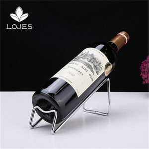 Wine Rack Dekoration Flaschen European Style Edelstahl Simple Red Wine Rack-Ornamente kreative Display-Flasche