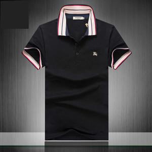 2019 Nuovi stilisti tag abbigliamento uomo tessuto lettera polo t-shirt colletto rovesciato casual donna tshirt marche maglietta tops 3G * 04