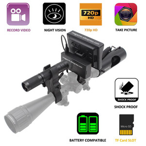 Megaorei2 Night Vision Riflescope Hunting Scopes Optique Sight tactique 850nm LED infrarouge IR de vision nocturne Hunting magnétoscope caméra