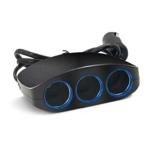 3 way Car Charger Duplo porta USB duplo para iPhone Samsung Telefone Adaptador 2 USB Um Arraste cigarro Três Car isqueiro Splitter