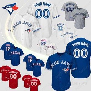 Özel Toronto Vladimir Guerrero Jr. Blue Jays Jersey Roberto Alomar Carter Randal Grichuk Smoak Kraliyet Stroman Beyzbol Formalar