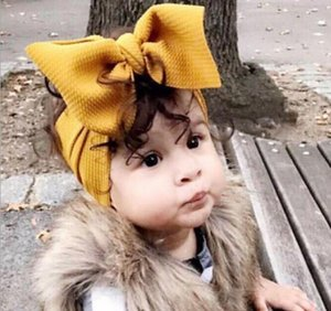Multi colors DIY baby girl candy color big bow headband Design Hair bowknot Children Headwear Girls Baby Hair Accessory