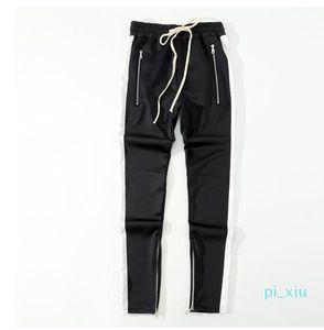 Temor de Deus Nevoeiro Justin Bieber Side Zipper Casual Sweatpants Homens Hiphop Jogger Track Pants Sportwear S -Xxl2020 frete grátis