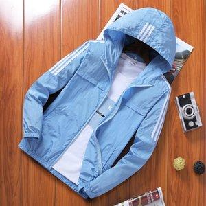 Les vêtements de protection solaire hommes cuir Coat 2020 vêtements de plein air peau des élèves de jeunes respirant la lumière de la marée manteau