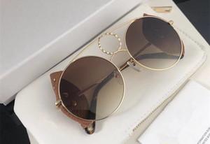 148SL Luxury Women Designer Sunglasses Metal Big Round Frame Gafas Diseño de lente desmontable Viene con un par de lentes de protección UV400