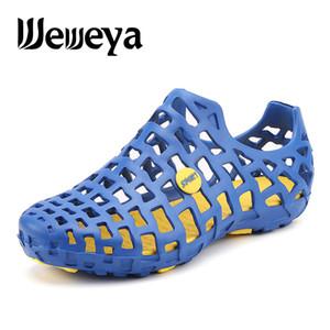 Weweya 2020 Aqua Shoes Мужчины Женщины Водная Обувь Полые Дышащие Пляжные Тапочки Вверх По Течению Обуви Легкие Быстросохнущие Босоногие Кроссовки Y200420
