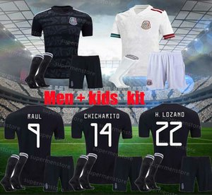 men kids 2020 Mexico away white Soccer jerseys kits 2019 black H.LOZANO DOS SANTOS CHICHARITO 20 21 PLAYER VERSION football uniform shirts