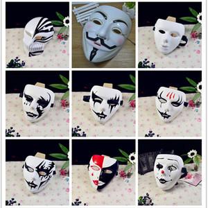 Jabbawockeez Hiphop PVC Vendetta Anonim Guy Fawkes itaatsizlik Bir Boyutu için Cadılar Bayramı Cosplay Kostüm Partisi Maske V Maske