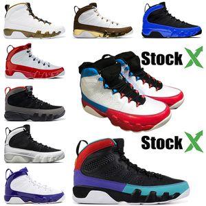 Nike Air Jordan Retro 9 9s 2020 Fashion Designer Luxe Baskets homme baskeball Chaussures Jumpman 9 Rouge Blanc Jade Rêvez-Racer Bleu Hommes Sport Chaussures Taille 7-13