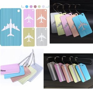 10style Suitcase Luggage label Tags airplane Pendant Handbag Travel Accessories Name ID Address fashion bag Accessories FFA2483