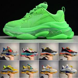Zapatos casuales de diseñador de moda Triple S 3.0 para hombre, suela de combinación de nitrógeno, zapatos casuales de cristal con fondo de papá 36-45