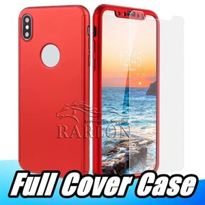 360 Full Protection Whole Phone Case For iPhone XS MAX XR X 8 7plus 7 6S plus With Tempered Glass Screen Protector Film
