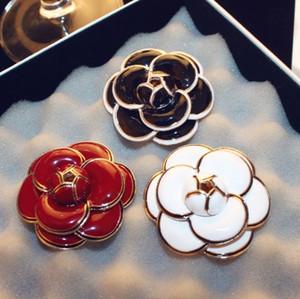 spille floreali per le donne di stile di modo Spille di rosa Spilla di design fantasia camelia di lusso materiale colorato fantasia Fibbia sciarpa di seta