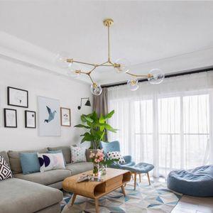 Moderne Gläser Hängeleuchten Designer Zweig Drehen Luxus Pendelleuchte Globe Blase Dekorative Mode Wohnzimmer Restaurant Schiff frei