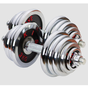 Title: Electroplated dumbbell red letters, men's fitness equipment to practice arm muscles, detachable combination