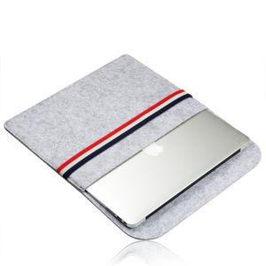 Porta notebook multifunzione in feltro con contenitore portaoggetti e scomparto portaoggetti