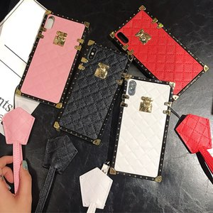 Samsung Galaxy S20 Ultra S10 Plus S8 S9 Note Designer Luxury Square Plaid Cover Leather Case 10 9 8 J4 J6 A51 A10 A20S A50 A70