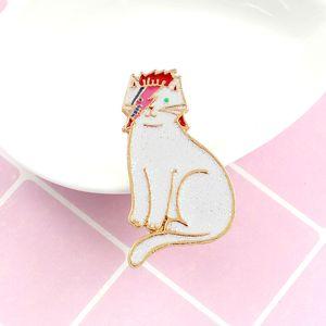 Hastane pimleri Cat kızıl saç özel karikatür broş yaratıcı emaye mektup yaka kot rozet hediye