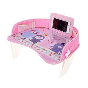 Coche de seguridad del bebé mesa de asiento niños Accesorios para automóviles comer placa Dibujo coches ajustables herramientas tipos de colores Automóviles LJJQ201 ornamento