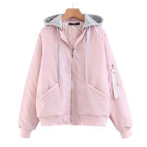 removable cap woman jacket winter parkas long sleeve women's winter basic coat Casual large sizes Bomber Jacket Outerwear