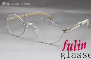 Atacado- 7550178 White Buffalo chifre óculos lasses populares Tamanho: 55-22-135 mm
