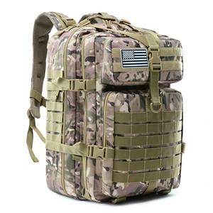 45L большой емкости Man Army Tactical Рюкзаки Военные штурмовые Сумки Открытый 3P EDC Molle пакет для трекинга Кемпинг Охота сумка