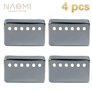 NAOMI 4 ADET Metal Humbucker Pikap LP Stil Elektro Gitar Parçaları Aksesuarları Için 50mm Şerit Renk Yeni